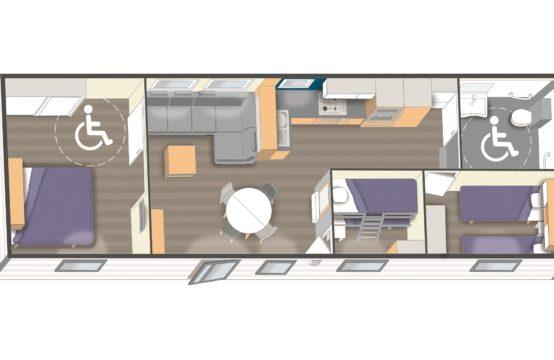 Modèle 12m PMR – 3 chambres