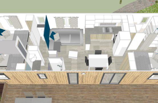Riva Bella mobil home BATI CONCEPT 3 chambres 2 SDB 2WC – 40m²